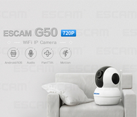 ESCAM G50 720P WiFi IP Camera IR Pan/Tilt Camera with Two Way Audio Motion Detector Baby Monitor ICSEE Night Vision