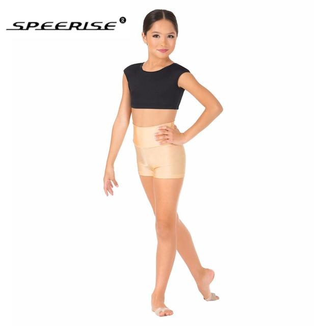 388c22c699b7 Wholesale Speerise Girls Lycra Spandex High Shorts Ballet Gymnastic Hot Boy  Shorts Dance for Dancewear Elastic Waist Shorts
