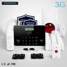 HOMSECUR Wireless&Wired LCD 3G/GSM/PSTN RFID Burglar Alarm System+Panic Button  LC03-3G