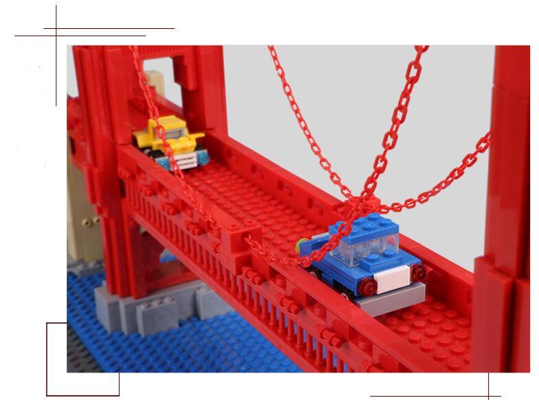 Wange 새로운 6210 1977 pcs 스트리트 뷰 시리즈 골든 게이트 브리지 모델 빌딩 블록 세트 벽돌 아이들을위한 장난감 선물-에서블록부터 완구 & 취미 의  그룹 2