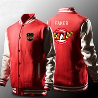 Skt Jacket Men Lol Skt T1 Hoodies Fleece Faker Peanut Hoodie Polerones Hombre Wolf SKT Bang