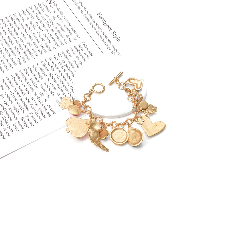 ZA Statement Vintage Colourful Crystal Metal Bracelets Bohemian Elegantly Crafted Rhinestone Bangles For Women Girls Jewelry in Chain Link Bracelets from Jewelry Accessories