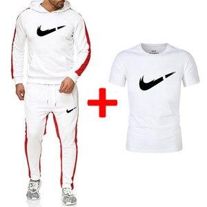 أزياء العلامة التجارية هوديس البلوز الرجال/النساء 2019 هوديي رياضية بدلة رياضة بلوزات + Sweatpants + T قمصان مجموعات الصوف مقنعين