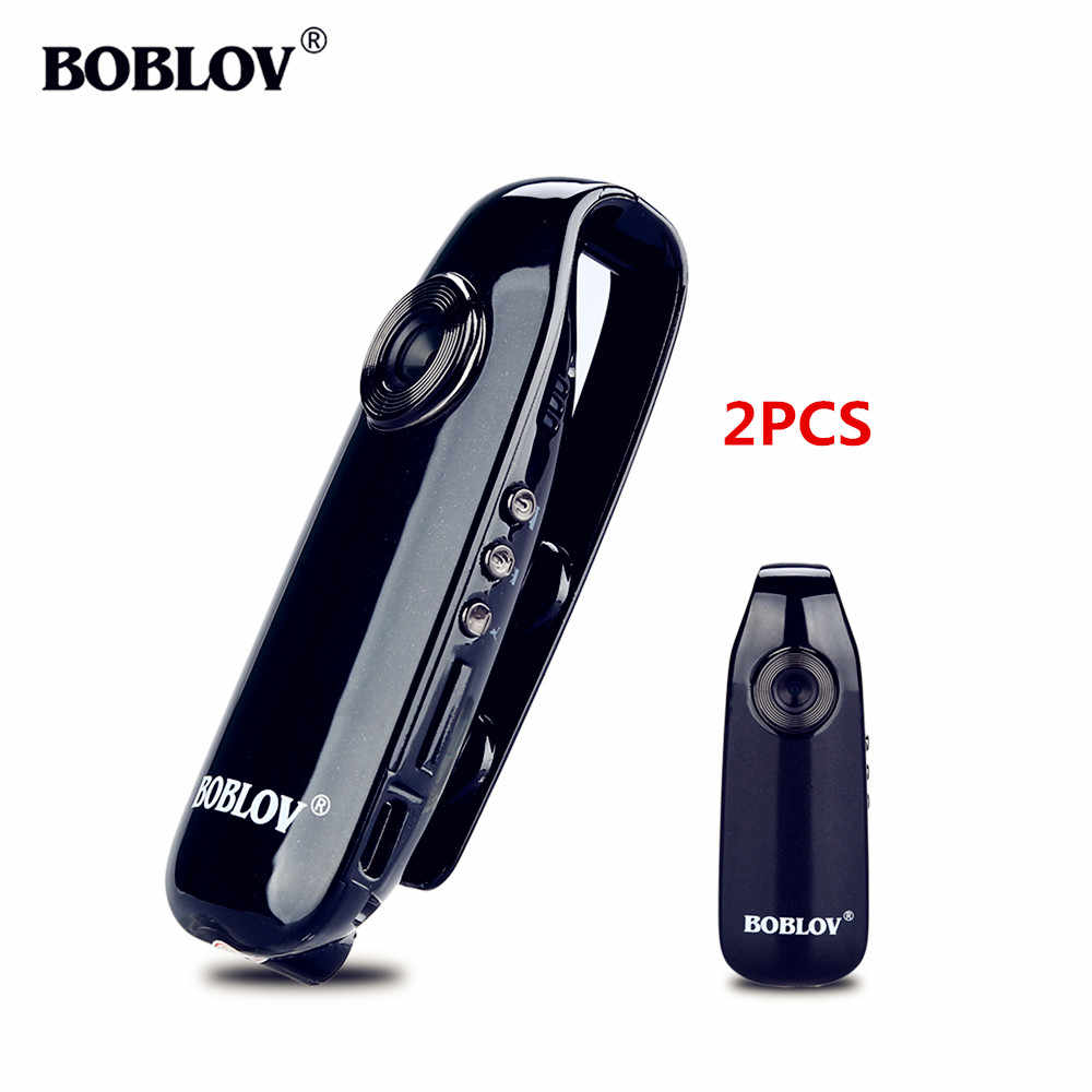 Body Camera Boblov 2PCS 007 1920x1080HD Mini Digital Camera Body Wore AVI Video Camera Recorder DVR Camera Police