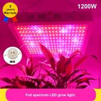 Full Spectrum 1200W LED Grow lights IR UV RED BLUE ORANGE WHITE For Flower Plants Stock in US/UK/GE/AU/CA