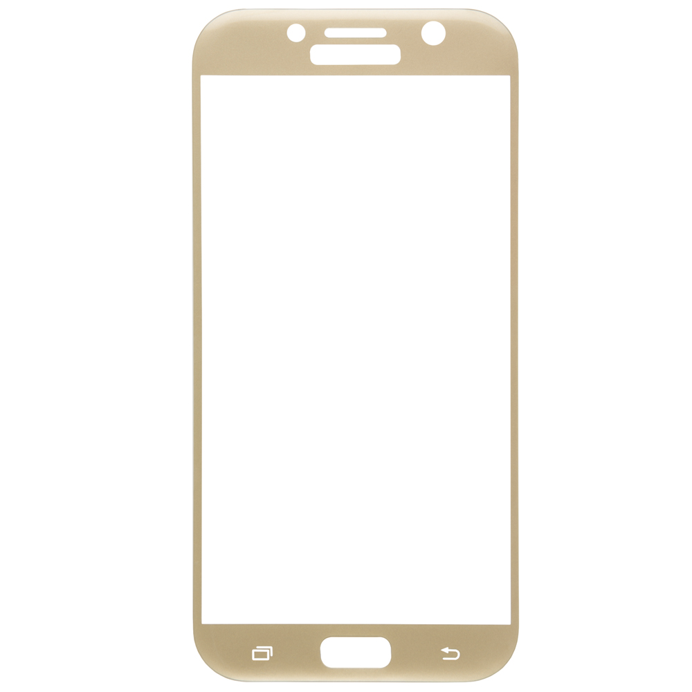 Protective glass Red Line for Samsung Galaxy A7 (2017) Full Screen (3D) gold