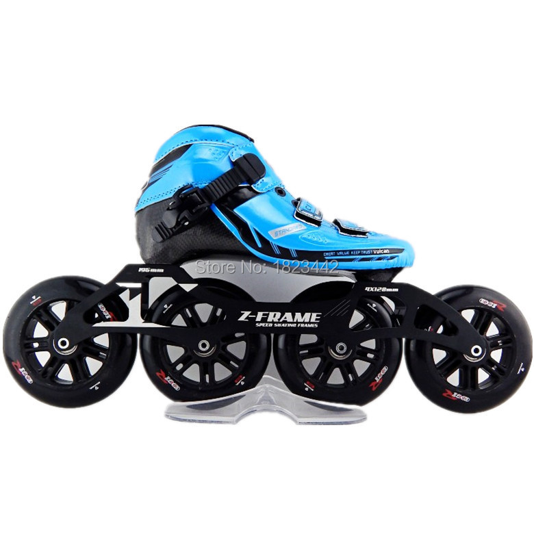 professional speed skating shoes adult male and female children in line skating slippery ice speed 4 * 120mm