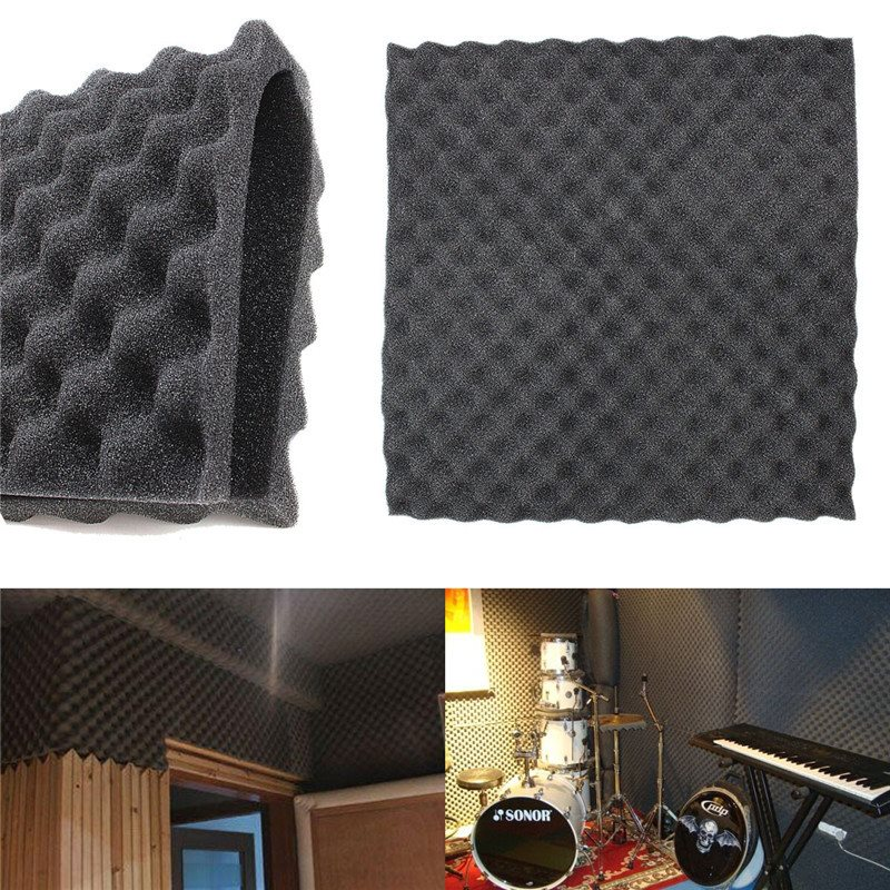 50x50cm 3cm Acoustic Foam Treatment Sound Proofing Sound-absorbing Cotton Studio Room Absorption Wedge Tiles Polyurethane Foam sound absorption coefficient analysis
