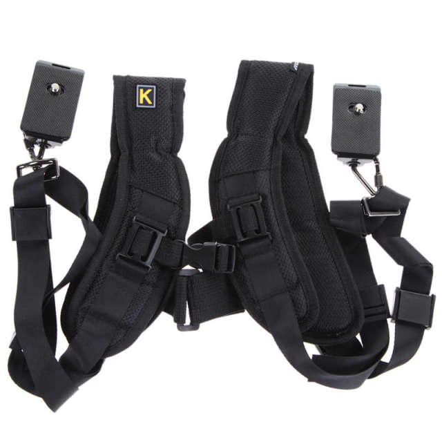 Adjustable Dual Camera Shoulder Strap
