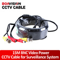 Безопасности CCTV 15 М (49ft) Видео Мужчина BNC кабель/bnc видео выход кабель для ВИДЕОНАБЛЮДЕНИЯ