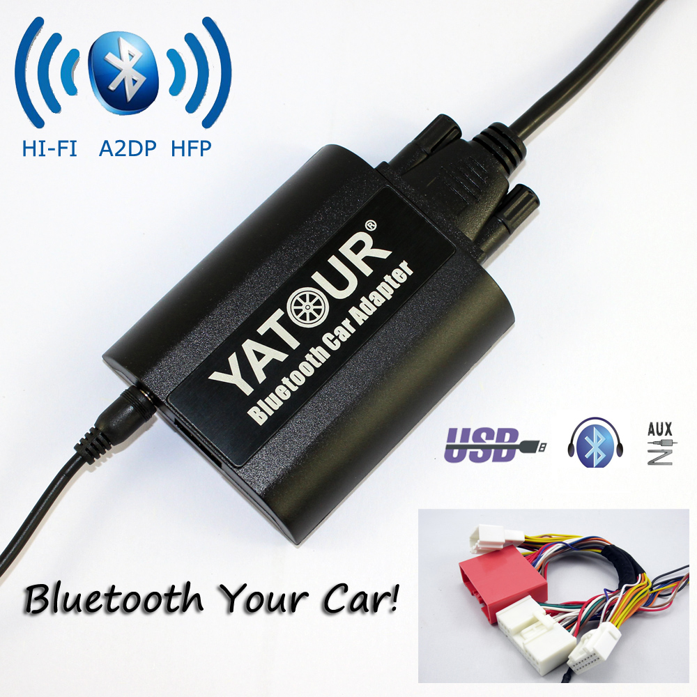 Yatour <font><b>Bluetooth</b></font> автомобильный адаптер для Mazda 3 5 6 CX-7 <font><b>RX</b></font> 8 2009-2012 YT-BTA USB Зарядное устройство ручной Бесплатная AUX в Hi-Fi A2DP