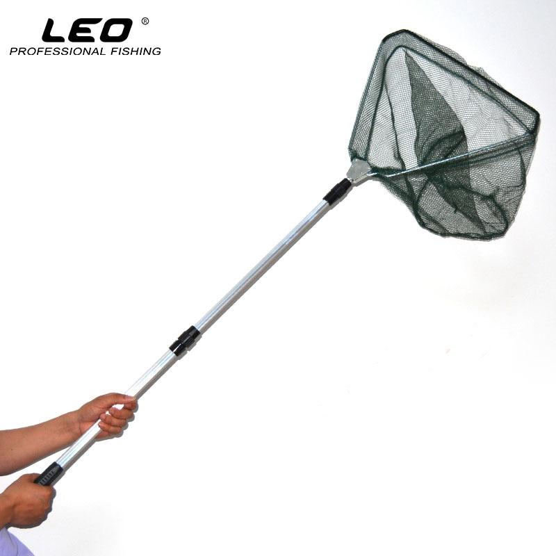 LEO Portable 3 sekciju pagarināms alumīnija polu zvejas - Makšķerēšana