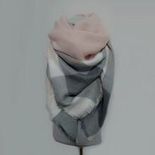 Za зимний шарф Тартан шарф женский плед шарф Куадрос дизайнер унисекс акриловые базовые шали теплые bufandas одеяло шарфы
