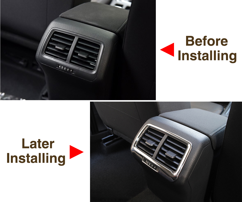 Image 3 - VCiiC Car Accessories Car Rear Seat Air Conditioning Trim Cover Sticker Car styling For Volkswagen VW Golf 7 MK7-in Car Stickers from Automobiles & Motorcycles