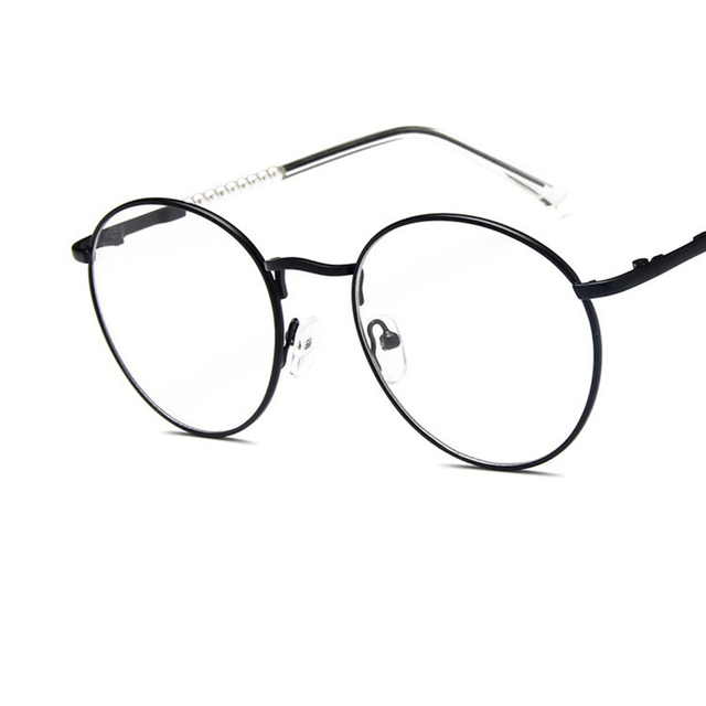 Fashion Golden Metal Frame Eyeglasses For Women Men Accessories ...