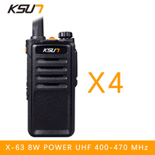 (4 PCS)Black Walkie Talkie UHF 400-470 MHz MINI-handheld transceiver two way Ham Radio communicator