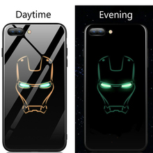 Marvel Avengers Luminous Glass Phone Case for Iphone – Black Panther 02