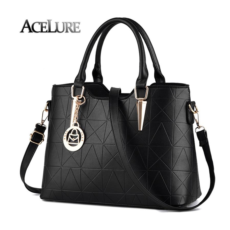 Handbags 2017 new pu female bag metal sheets decoration handbags sweet lady fashion handbags elegant luxury women shoulder bags