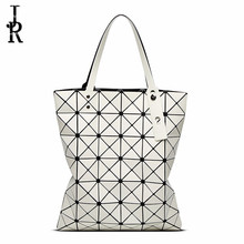 Luxus marke Frauen handtasche Blenden Farbe Plaid Tote Casual Taschen Falten Handtaschen Dame Pailletten Spiegel geometrische umhängetasche