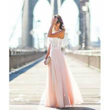 Женское повседневное кружевное платье Свободное длинное однотонное