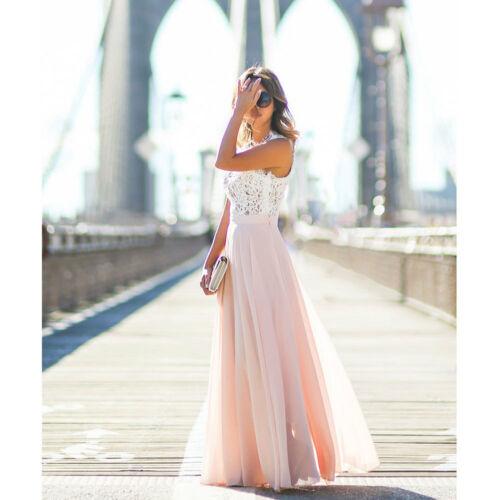 Женское повседневное кружевное платье, Свободное длинное однотонное платье без рукавов с открытыми плечами для официального торжества, вы...