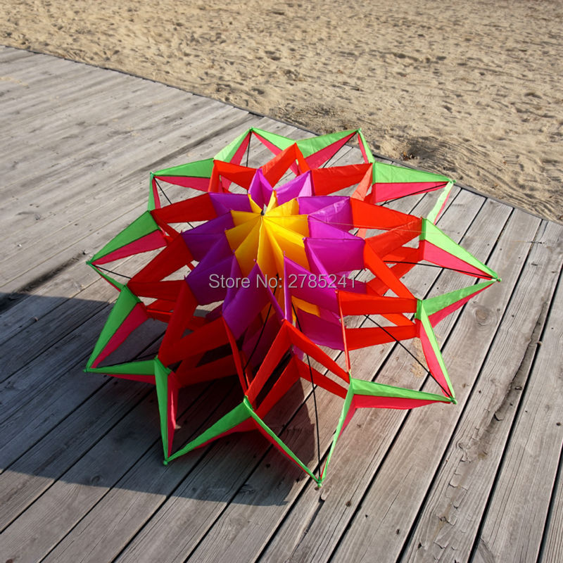 Large rainbow colorful 3d lotus flower kite single line outdoor toy large rainbow colorful 3d lotus flower kite single line outdoor toy flying box kite for kids sport with flying tool in kites accessories from toys mightylinksfo