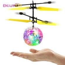 Enjoybay летающий мяч Light-Up игрушки Инфракрасный Индукционная дистанционного Управление Вертолет НЛО руку Управление Радиоуправляемый Дрон Сенсор w/ светодиодный детские игрушки