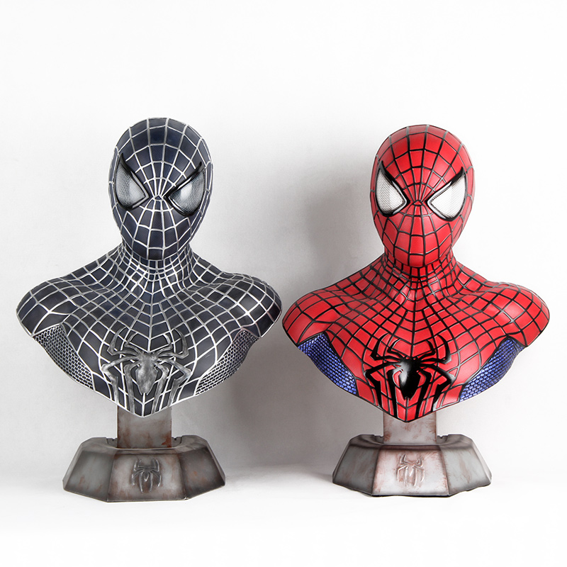 High Quality 1:1 Scale Full Size Captain America 3 III Civil War Spider-Man Resin Bust Statue (LIFE SIZE) resin model universe captain america civil war black panther resin bust 1 2 statue wu570