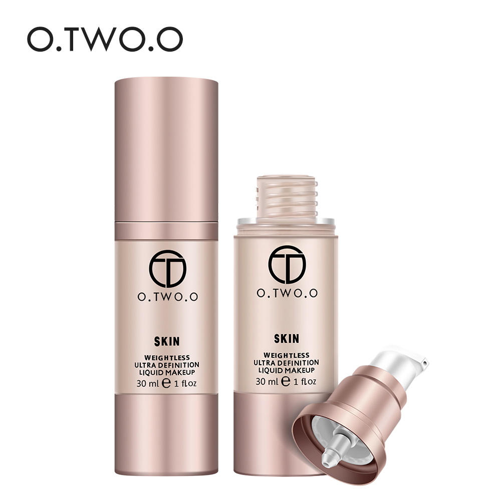 O.TWO.O 4 Colors Face Base Liquid Foundation Cream Makeup Full Coverage Concealer Whitening Primer Waterproof Lasting 30ml o two o face makeup base face liquid foundation bb cream concealer foundation primer easy to wear 30ml
