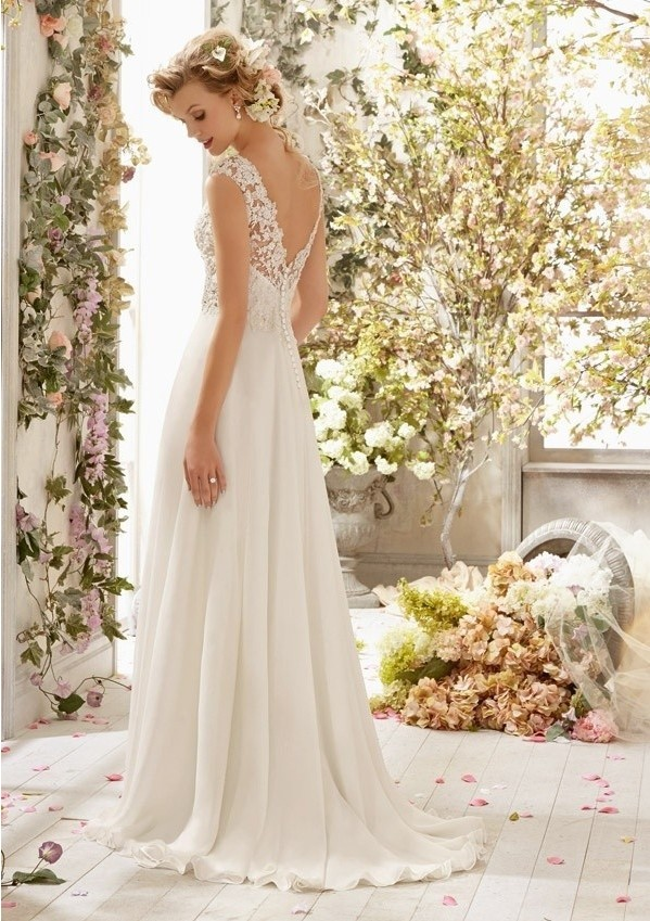 New Romantic Summer Bridal Wedding Dress