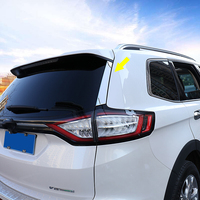 For Ford EDGE 2015 2016 2017 Car body styling chrome ABS Rear tail Spoiler side Molding window bezel trim molding 2pcs