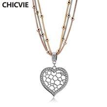Chicvie ожерелье с деревом жизни и подвесками женское длинное