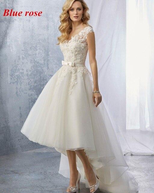 Latest Design High Low Wedding Dresses Vintage Bridal Dresses 2017 ...