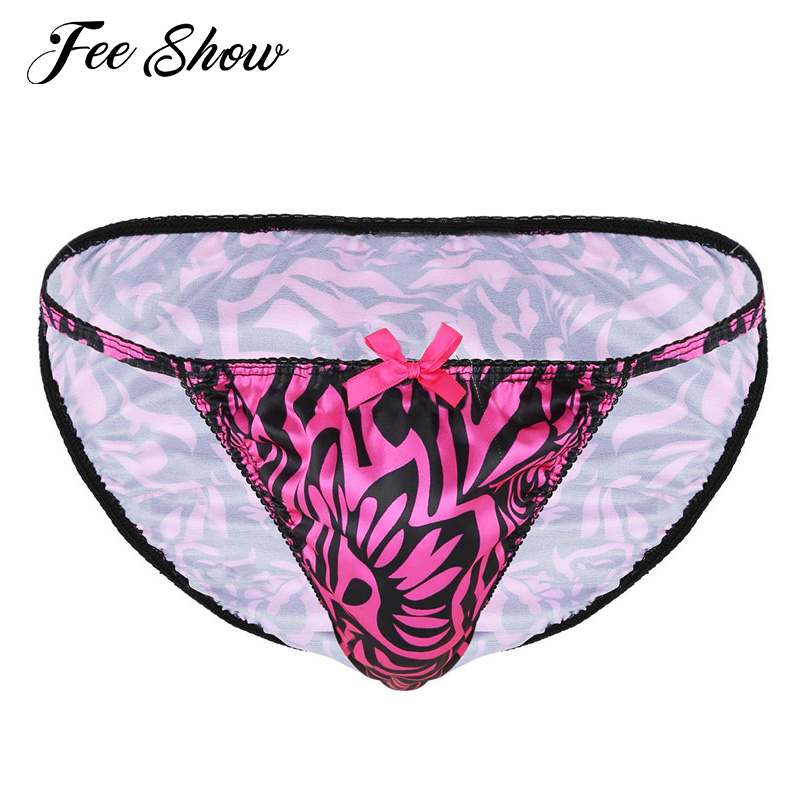 576978c0f5eb iEFiEL Mens Sexy Lingerie Patent Leather Gay Sissy Panties Crotchless C- string Bikini Briefs Underwear Underpants