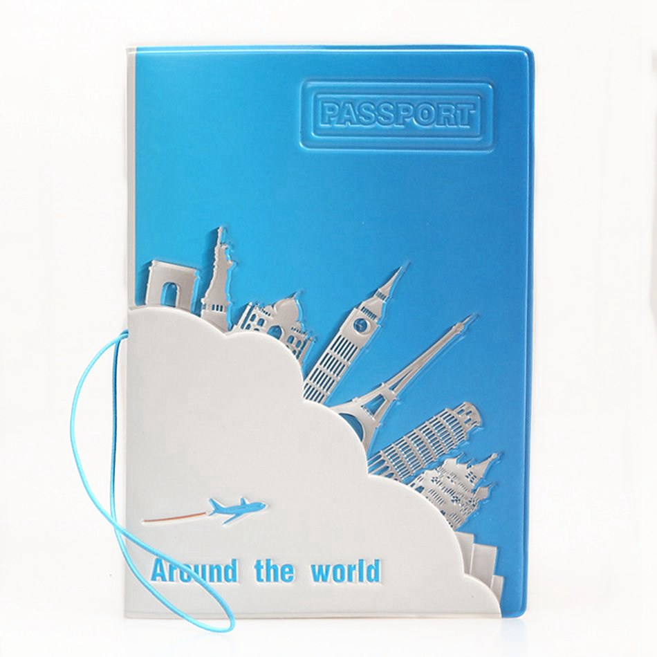 New 2019 Travel Around The World Passport Covers Creative Card Women Men Id Card Holder Porta Passaporte 3D Design Passport