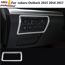 Car styling detector sticks Chrome ABS front head light switch control lamp trim moulding 1pcs for subaru Outback 2015 2016 2017
