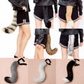 Cosplay Halloween Furry Faux Fur fox's Tail Wolf Adjustable Dress Costume Party  Supplies