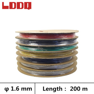 LDDQ 200m 3:1 Heat shrink tube adhesive with glue 1.6mm Cable sleeve shrinkable tubing gaine thermo termoretractil Seven colors