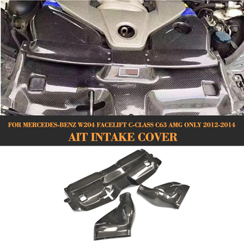 C Class Carbon Fiber 3PCS Car Cold Air Filter Intake System Cover for Mercedes Benz W204 Facelift C63 AMG Only 2012-2014 Сумка