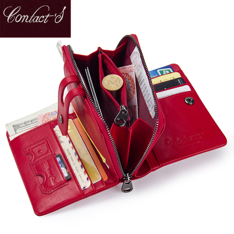 Short Wallet With Zipper Coin Purse Pocket Genuine Leather Women Wallets 2018 Small Fashion Card Holder Money Bag For Ladies contact s fashion small wallet women genuine leather coin purse short wallets for ladies zipper pocket deisgn cards holder bag