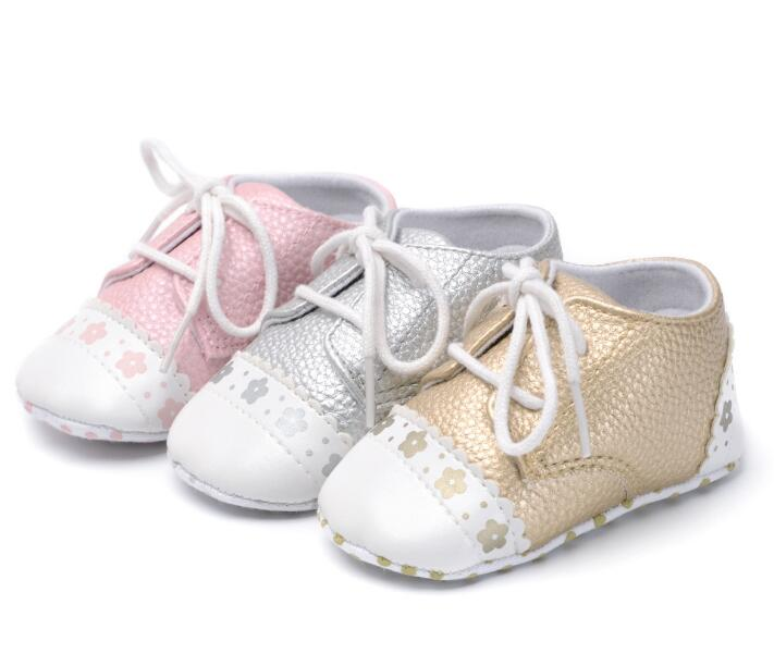 Newest toddler Baby PU Leather Shoes Infants Girl Boy Soft Sole Sneakers fashion First Walker indoor shoes for 0-18Month