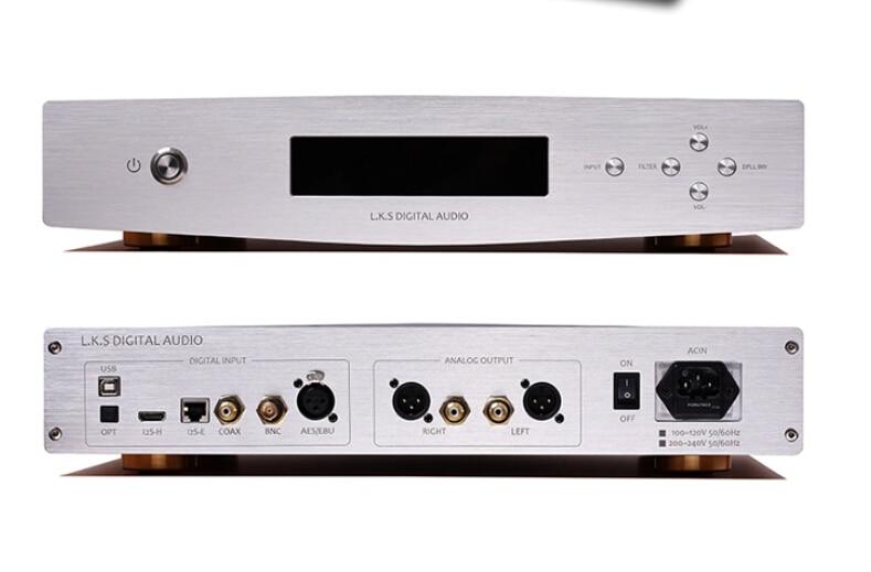 L.K.S Audio MH-DA003 Digital Audio Decoder Dual ES9018 Input USB/Optical/Coaxial/I2S/AES/EBU USB Support PCM/DSD 32Bit/384KHz