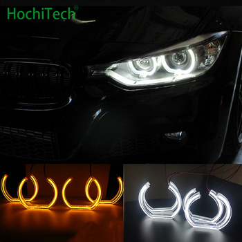 for BMW 1995-2000 E39 5 series pre-facelift White & Amber Dual color DTM Style LED Angel eyes Turn signal light