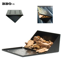 Non-Stick V-Shape BBQ Smoker Gas Grill Smoker Box Wood Chip Smoker Short Barbecue Smoking Box Outdoor Flavour Grill box BBQ Tool