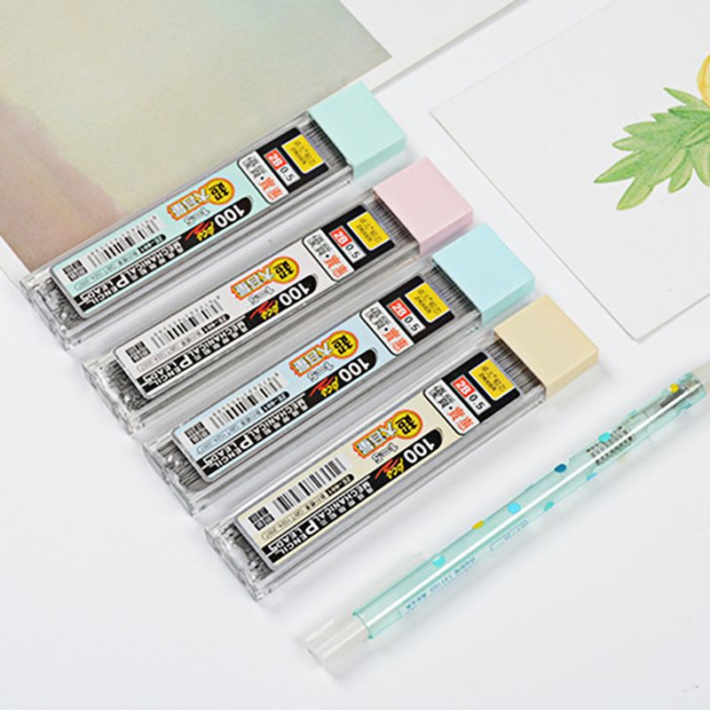 1box 0.5mm Colored Mechanical Pencil Refill Lead Erasable Student Stationary EC