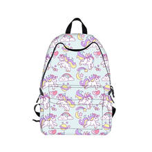 Kawaii Einhorn Rucksack Regenbogen Pony Pferd Kinder Schultaschen Rucksack für Teenager Mädchen Buch Tasche Frauen Rucksack Daypack