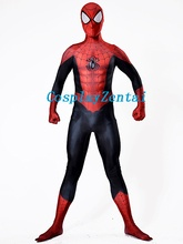 2017 Ultimate Spiderman Costume 3D Shade Pattern Spiderman Costume for Cosplay Halloween Party