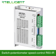 Rtelligent Nema23 24 R60-IR Potentiometer Speed-Control Switch Drive Stepper Motor Driver for Stepper Motor Glue Spray Painting leadshine network drives dm3e 556 series ethercat stepper drives with coe and cia 402 protocols control stepper motor nema23 24