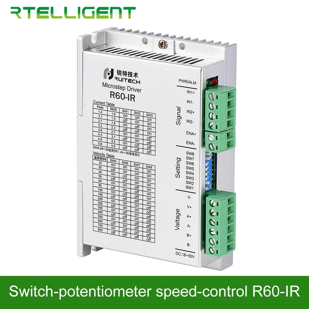 Rtelligent Nema23 24 R60 IR Potentiometer สวิทช์ควบคุมความเร็วไดรฟ์ Stepper Motor Driver สำหรับ Stepper Motor กาวสเปรย์ภาพวาด-ใน ตัวขับมอเตอร์ จาก การปรับปรุงบ้าน บน AliExpress - 11.11_สิบเอ็ด สิบเอ็ดวันคนโสด 1