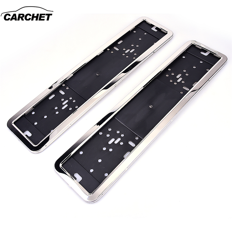купить CARCHET License Plate Holder Frame European UK EU German Russian stainless steel Black Number License Plate Bracket Frame Holder по цене 1251.83 рублей